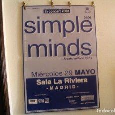 Fotos de Cantantes: SIMPLE MINDS CARTEL ORIGINAL GIRA TOUR 2002 MADRID 126X89. Lote 194299000