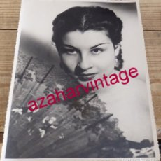 Fotos de Cantantes: ESPECTACULAR FOTOGRAFIA DE GRACIA MONTES, 18X24 CMS. Lote 194518910