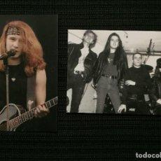 Fotos de Cantantes: POSTAL 2 POSTALES ORIGINALES HEROES DEL SILENCIO 10X15 CM. Lote 194625632