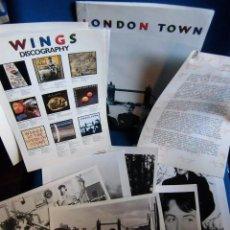 Fotos de Cantantes: BEATLES MCCARTNEY DOSSIER PRENSA ORIGINAL ESPAÑA 1978 PROMOCION LONDON TOWN COMPLETO. Lote 194667825