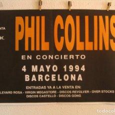 Fotos de Cantantes: -RESERVADO GEORGE - PHIL COLLINS BOTH SIDES CARTEL ORIGINAL GIRA TOUR 1994 BARCELONA 68X100. Lote 194786182