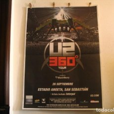 Fotos de Cantantes: U2 360 TOUR CARTEL ORIGINAL GIRA TOUR 2010 SAN SEBASTIAN 140X100. Lote 194859296
