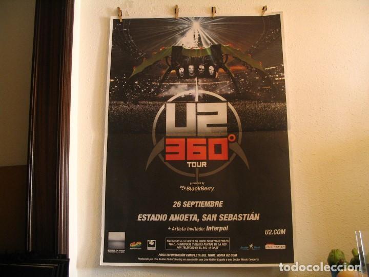 U2 360 TOUR CARTEL ORIGINAL GIRA TOUR 2010 SAN SEBASTIAN 140X100 (Música - Fotos y Postales de Cantantes)