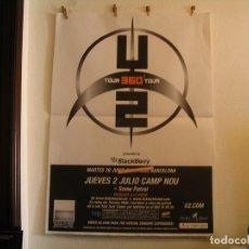 Fotos de Cantantes: U2 360 TOUR CARTEL ORIGINAL GIRA TOUR 2010 BARCELONA 140X100. Lote 194859533