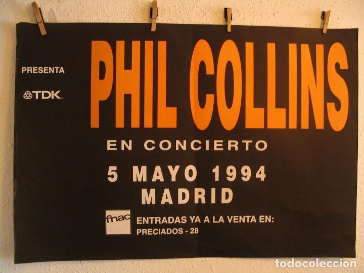 PHIL COLLINS EN CONCIERTO CARTEL ORIGINAL GIRA TOUR 1994 MADRID 68X100 (Música - Fotos y Postales de Cantantes)