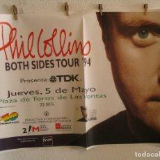 Fotos de Cantantes: PHIL COLLINS BOTH SIDES CARTEL ORIGINAL GIRA TOUR 1994 MADRID 90X130. Lote 194862935
