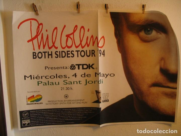 PHIL COLLINS BOTH SIDES CARTEL ORIGINAL GIRA TOUR 1994 BARCELONA 90X130 (Música - Fotos y Postales de Cantantes)
