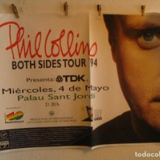 Fotos de Cantantes: PHIL COLLINS BOTH SIDES CARTEL ORIGINAL GIRA TOUR 1994 BARCELONA 90X130. Lote 194863010