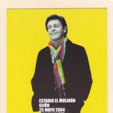 Fotos de Cantantes: POSTAL CONCIERTO PAUL MCCARTNEY 2004. ESTADIO EL MOLINON. GIJON - POSTALFREE. Lote 194976808