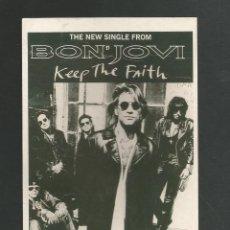 Fotos de Cantantes: POSTAL SIN CIRCULAR BON JOVI - THE NEW SINGLE FROM - PCO450 BON JOVI TALTH. Lote 194979317