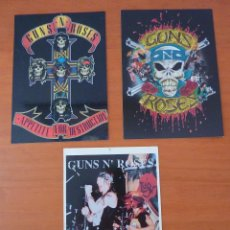 Fotos de Cantantes: 3 POSTALES GUNS AND ROSES. Lote 195176618