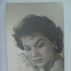 Fotos de Cantantes: FOTO ORIGINAL DE CARMEN FLORES CON DEDICATORIA Y FIRMA MANUSCRITA ( AUTOGRAFO ). DE GIUPRA, MADRID. Lote 195331922