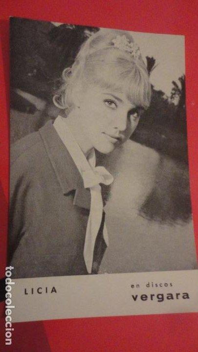 ANTIGUA POSTAL.CANTATE LICIA.DISCOS VERGARA AÑOS 60 (Música - Fotos y Postales de Cantantes)