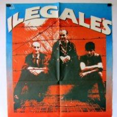 Fotos de Cantantes: ILEGALES. HISTÓRICO CARTEL ORIGINAL CONCIERTO EN SALA YOKO DE BILBAO EN 1984.. Lote 196489592