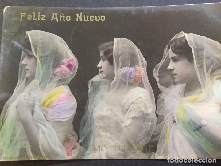 Fotos de Cantantes: FELIZ AÑO NUEVO-TRIO DELMONTE-POSTAL FOTOGRAFICA LB BARTRINA-VER FOTOS-(68.692) - Foto 2 - 196911563
