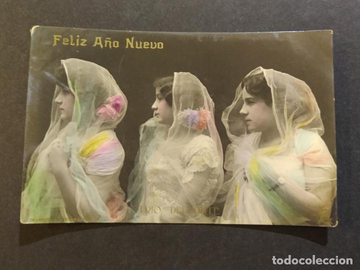 FELIZ AÑO NUEVO-TRIO DELMONTE-POSTAL FOTOGRAFICA LB BARTRINA-VER FOTOS-(68.692) (Música - Fotos y Postales de Cantantes)
