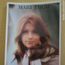 Fotos de Cantantes: FOTO ARTISTICA FIRMADA MARI TRINI. Lote 198534811