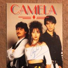 """Fotos de Cantantes: CAMELA """"LLORARÁS"""" (1994). TARJETA PROMOCIONAL DEL ÁLBUM CON DOS AUTÓGRAFOS.. Lote 198574383"""