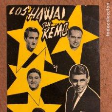 Fotos de Cantantes: LOS HAWAI SAN REMO Y ADRIAN (ARTISTAS BELTER). FOTO PROMOCIONAL CON DEDICATORIAS Y AUTÓGRAFOS AL DOR. Lote 198854462