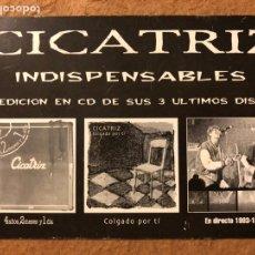"Fotos de Cantantes: CICATRIZ ""INDISPENSABLES"". POSTAL CIRCULADA PROMOCIONAL DE ZERO RECORDS.. Lote 199169455"
