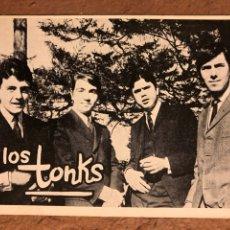 Fotos de Cantantes: LOS TONKS. TARJETA PROMOCIONAL DE LA BANDA, FINALES AÑOS 60.. Lote 200559925