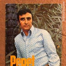 """Fotos de Cantantes: PERET """"UNA LÁGRIMA"""" (1967). TARJETA PROMOCIONAL DISCOS VERGARA. CON DEDICATORIA.. Lote 200564673"""