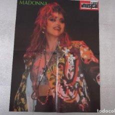 Fotos de Cantantes: POSTER DE MADONNA / LA UNION DE LA REVISTA EL GRAN MUSICAL DE LOS AÑOS '80. Lote 201852957