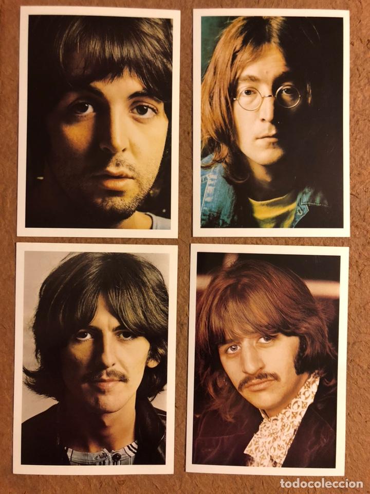 THE BEATLES (JOHN LENNON, PAUL MCCARTNEY, RINGO STARR Y GEORGE HARRISON). LOTE DE 4 TARJETAS (Música - Fotos y Postales de Cantantes)