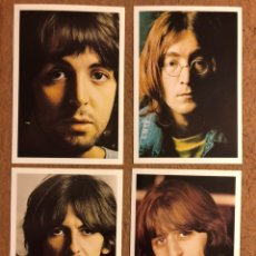 Fotos de Cantantes: THE BEATLES (JOHN LENNON, PAUL MCCARTNEY, RINGO STARR Y GEORGE HARRISON). LOTE DE 4 TARJETAS. Lote 201910897