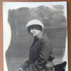 Fotos de Cantantes: FOTO ESTUDIO CANTANTE DE OPERA LAURA CERVERA FOTOGRAFO NIEPCE BARCELONA CON AUTOGRAFO 1921. Lote 202690858