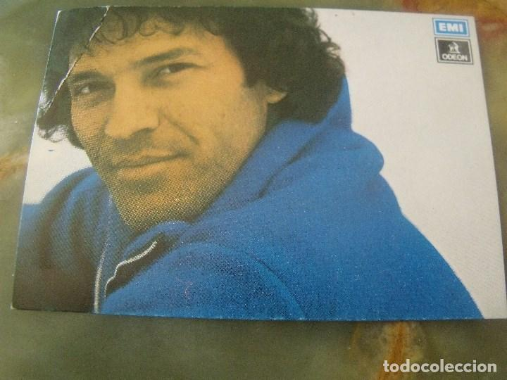 TARJETITA PROMOCIONAL LORENZO SANTAMARIA EMI ODEON TAMAÑO CROMO (Música - Fotos y Postales de Cantantes)