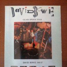 Fotos de Cantantes: POSTAL PROMOCIONAL DAVID BOWIE GLASS SPIDER TOUR 1969-87. Lote 202795122