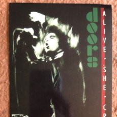 "Fotos de Cantantes: THE DOORS ""ALIVE SHE CRIED"" (1983). POSTAL SIN CIRCULAR.. Lote 202874051"