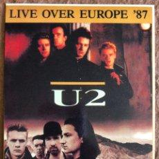 "Fotos de Cantantes: U2 ""THE JOSHUA TREE LIVE OVER EUROPE '87"". POSTAL SIN CIRCULAR.. Lote 203403188"