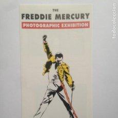 Fotos de Cantantes: THE FREDDIE MERCURY PHOTOGRAPHIC EXHIBITION -DIPTICO OFFICIAL MERCHANDISE THE MERCURY PHOENIX TRUST. Lote 204262995