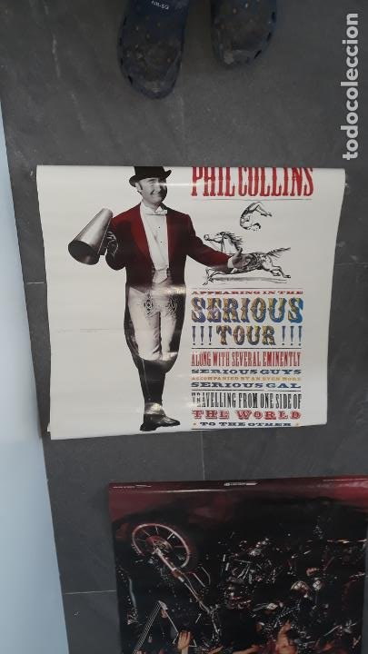 Fotos de Cantantes: mas de 70 posters por estrenar ,iron maden ,simple minds ,phill collins , marca scandecor 1987-1890 - Foto 2 - 204504253