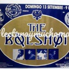 Fotos de Cantantes: THE BOLSHOI. SALA THE END (VITORIA) HISTÓRICO CARTEL ORIGINAL DEL CONCIERTO. 69 X 48 CMS.. Lote 205304338
