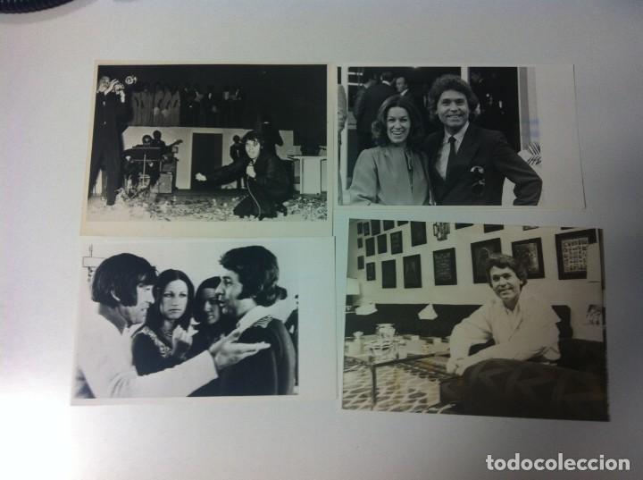 Fotos de Cantantes: Lote 10 fotos de Raphael y un teletipo. Agencia EFE. Procedente archivo de una publicación - Foto 2 - 205410660