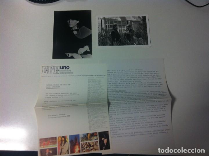 Fotos de Cantantes: Lote 10 fotos de Raphael y un teletipo. Agencia EFE. Procedente archivo de una publicación - Foto 3 - 205410660