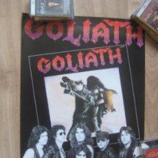 Fotos de Cantantes: GOLIATH - POSTER CARTEL OFICIAL COMPAÑIA 50 X 35 CMS - HARD ROCK METAL 80'S HEAVY. Lote 205845735