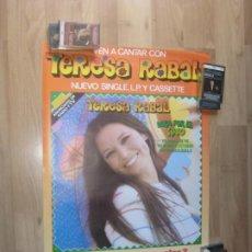 Fotos de Cantantes: TERESA RABAL - CARTEL OFICIAL COMPAÑIA MOVIEPLAY - 68 X 50 CMS - TVE TELEVISION 1OS 80'S - NUEVO. Lote 205849951