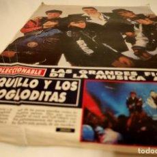 Fotos de Cantantes: LOQUILLO Y TROGLODITAS FICHA COLECCIONABLE REVISTA HOLA AÑO 1989 +POSTAL. Lote 206184622