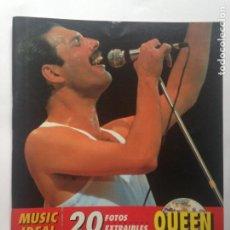 Fotos de Cantantes: QUEEN - MUSIC IDEAL - 20 FOTOS EXTRAIBLES - ROYAL BOOKS - 1994. Lote 232162535
