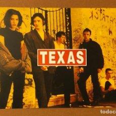 Fotos de Cantantes: POSTAL PROMOCIONAL GIRA ESPAÑOLA TEXAS '92. Lote 208289243