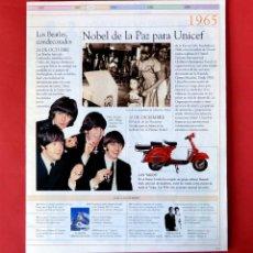 Fotos de Cantantes: THE BEATLES - TEXTO Y FOTOS EN FASCICULO DE LA ENCICLOPEDIA DEL SIGLO XX - 1990 - ORIGINAL. Lote 208316281