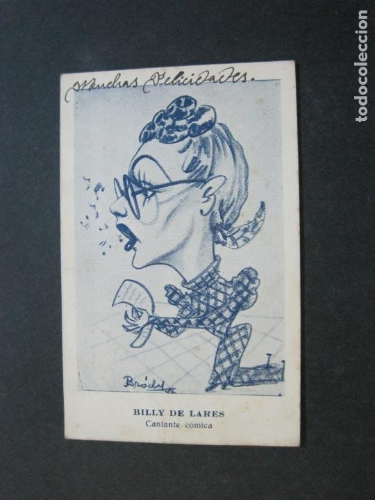 Fotos de Cantantes: BILLY DE LARES-CANTANTE COMICA-POSTAL ANTIGUA-VER FOTOS-(72.196) - Foto 2 - 210134320