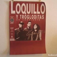 Fotos de Cantantes: CARTEL ORIGINAL LOQUILLO Y TROGLODITAS TIEMPOS ASESINOS 1996 GIRA TOUR 104X69. Lote 210199468