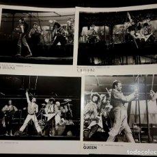 Fotos de Cantantes: QUEEN - FREDDIE MERCURY - LOTE DE 4 FOTOGRAFIAS DE PRESS KIT - 1986 - NO USO CORREOS. Lote 210343406