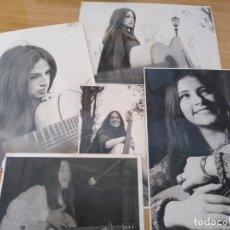 Fotos de Cantores: PAYITA SOLA -LOTE 5 DE FOTOS ORIGINALES FOLKLORE ARGENTINO. Lote 210381946