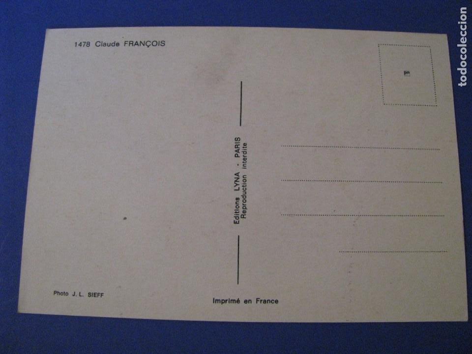 Fotos de Cantantes: POSTAL DEL CANTANTE FRANCÉS CLAUDE FRANÇOIS. ED. LYNA, PARIS. FRANCIA. - Foto 2 - 210481122